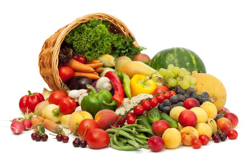 Eat fruit and vegetables as a balanced diet